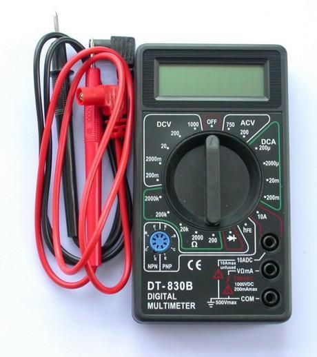 Мультиметр цифровой DT-830B DСV ACV DCA 10А hFe Ом диод