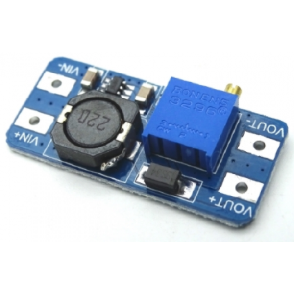 Преобразователь напряжения повышающий MT3608 2-24 на 28В, MicroUSB