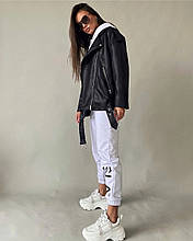 Куртка-косуха жіноча з еко шкіри