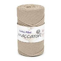 Трикотажный хлопковый шнур Cotton Filled 5 мм, цвет Темно-бежевый
