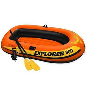 Двухместная Надувная лодка Intex 58332 Explorer, 211х117 см
