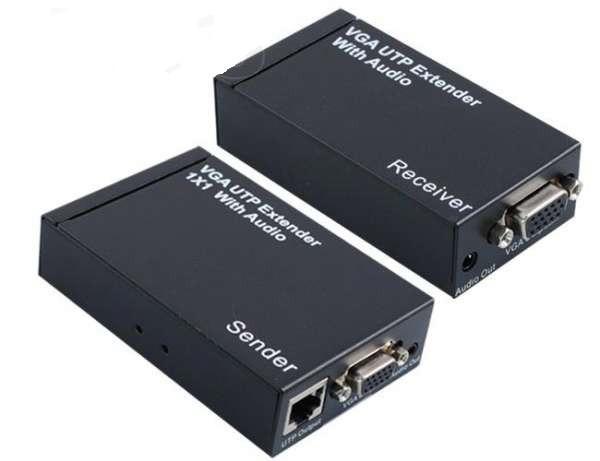 Подовжувач VGA по UTP до 300м, зі звуком, репітер