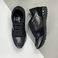 Кросівки чоловічі Valentino Rockrunner Noir (Валентино) арт. 74-02, фото 1