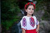 Український вишитий костюм для дівчинки на короткий рукав, фото 4