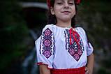 Український вишитий костюм для дівчинки на короткий рукав, фото 3