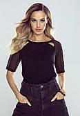 Блузка женская Marina Eldar черного цвета, коллекция весна-лето 2021