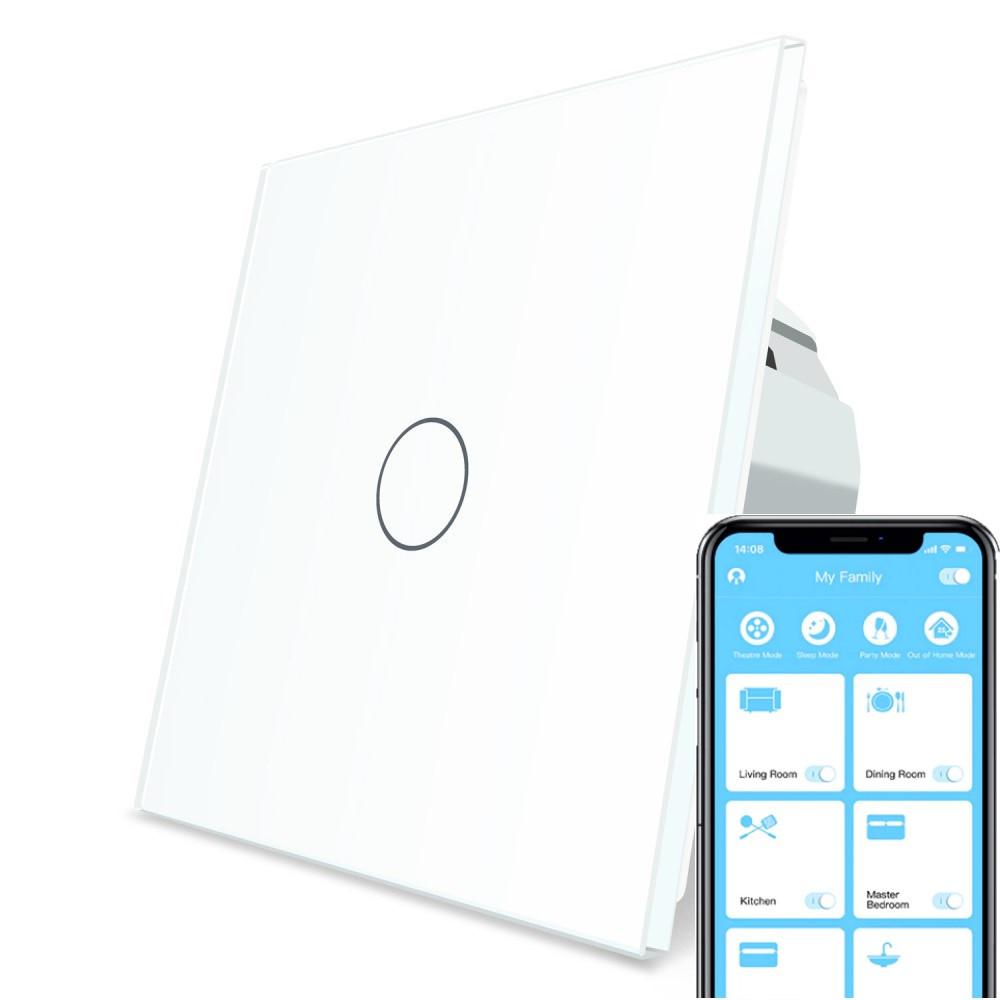 Сенсорний Wi-Fi вимикач Livolo ZigBee білий (VL-C701Z-11)