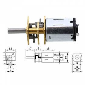 Мотор редуктор мікро моторчик 12GAN20 100об/хв 6В