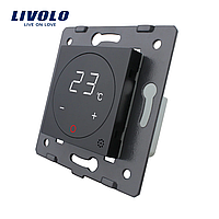 Механізм терморегулятор сенсорний Livolo для водяних систем опалення чорний (VL-C7-01TM-12)
