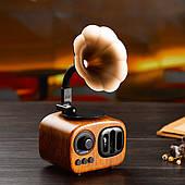 Колонка Gramophone AS90 Retro в виде граммофон, радиоприёмник, колонка Bluetooth, Карта SD
