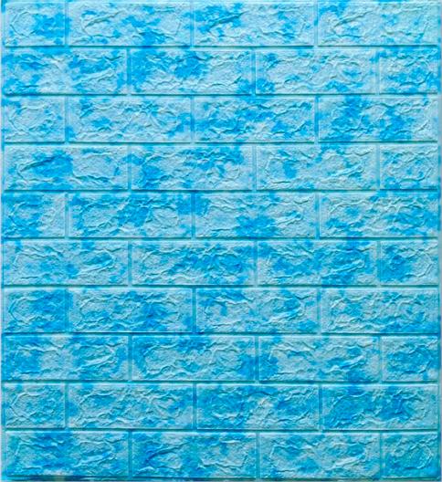 3D панель самоклеящаяся, декоративные 3Д панели для стен, Голубой Мрамор