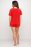 Червона тепла піжама жіноча, фото 2