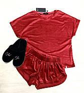 Червона тепла піжама жіноча, фото 3