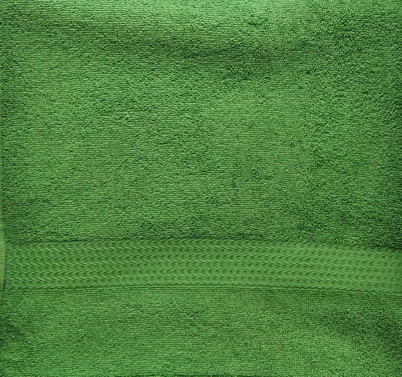 Рушник махровий зелений