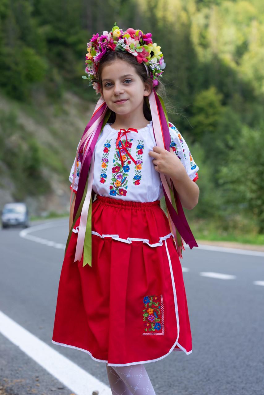 Дитячий вишитий костюм «Дрібна борщівка» - дуже гармонійне поєднання кольорів💐