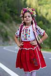 Дитячий вишитий костюм «Дрібна борщівка» - дуже гармонійне поєднання кольорів💐, фото 3