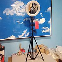 От 1 шт. Штатив для телефона с кольцевой лампой 26 см и зеркалом и держатель телефона. Для селфи, макияжа.