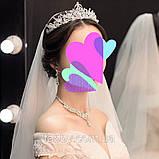 Sebastiana - не висока обруч - діадема (5cm) підійде і для дорослого, і для дитини, корона півколом, фото 6