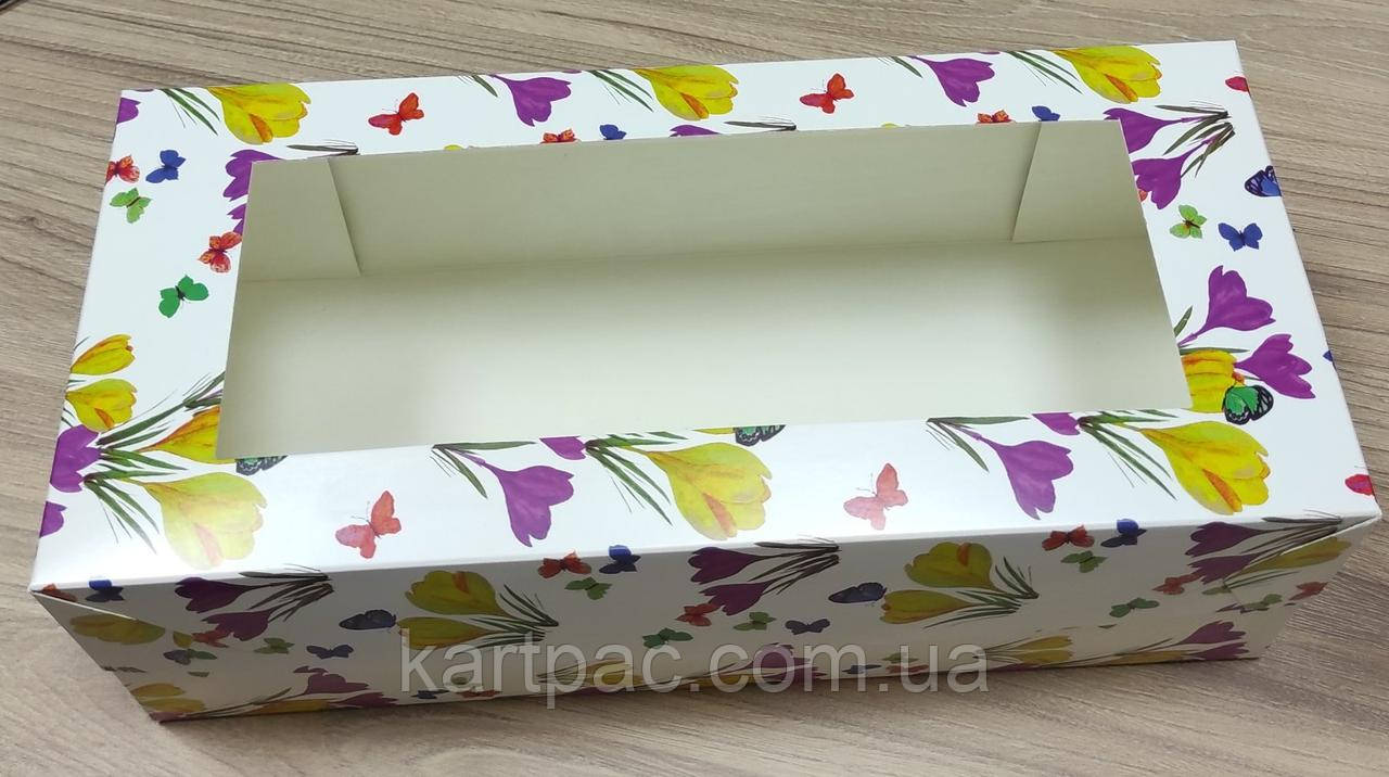 Картонна Коробка для рулетів 330*150*110 жовта