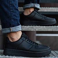 Кроссовки мужские весенние осенние Nike демисезонные черные | Спортивные кеды Найк мужские ТОП качества, фото 1
