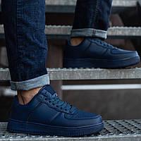Кроссовки мужские весенние осенние Nike демисезонные синие | Спортивные кеды Найк мужские ТОП качества, фото 1
