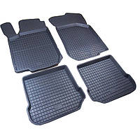 Seat Leon 2005-2012 рр. Гумові килимки з бортом (4 шт, Polytep)