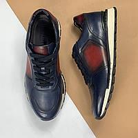 Кожаные кроссовки Berluti (Берлути) арт. 75-03, фото 1