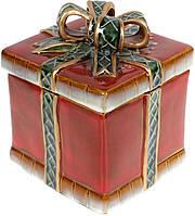 Банка эмкость керамическая для сыпучих круп сахара «Подарок» 1.3л, 15х15х18.5см BD-197-731