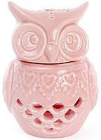 """Набор 4 арома-лампы """"Сова"""" 8.9х8.1х12.1см, розовый фарфор BD-797-415"""