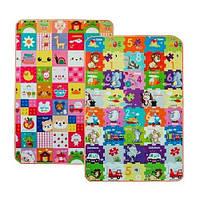 Детский двусторонний игровой коврик Limpopo Смарт-пазлы и Стикеры 120х180 см (NJ)