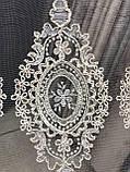 Красивая забитая тюль с корд ниткой ниткой в спальню. Цвет:Золотистый, фото 7