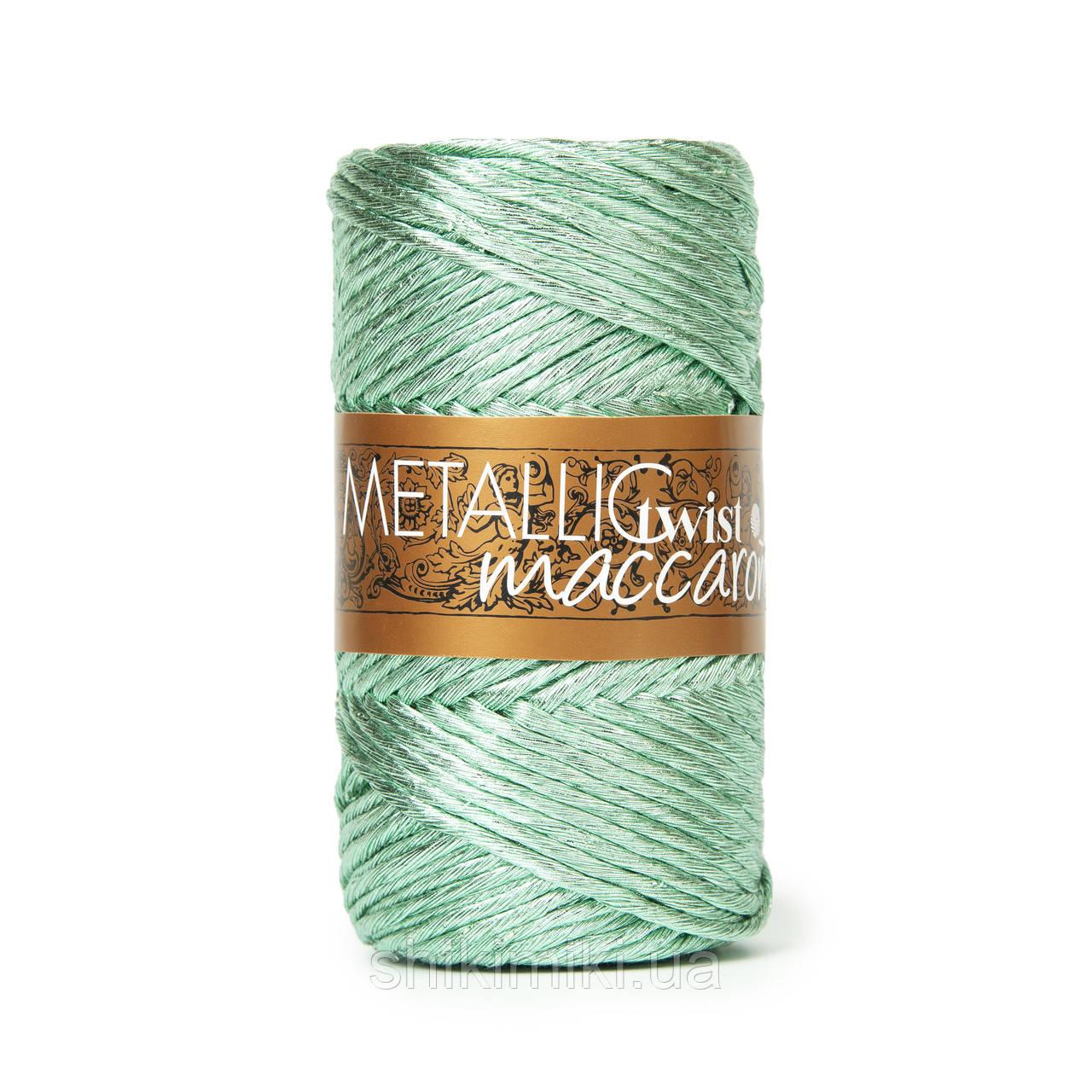Фантазийный шнур Maccaroni Metallic Twist, цвет мятный