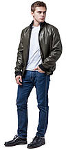 Осінньо-весняна молодіжна легка куртка чоловіча кольору хакі модель 2970