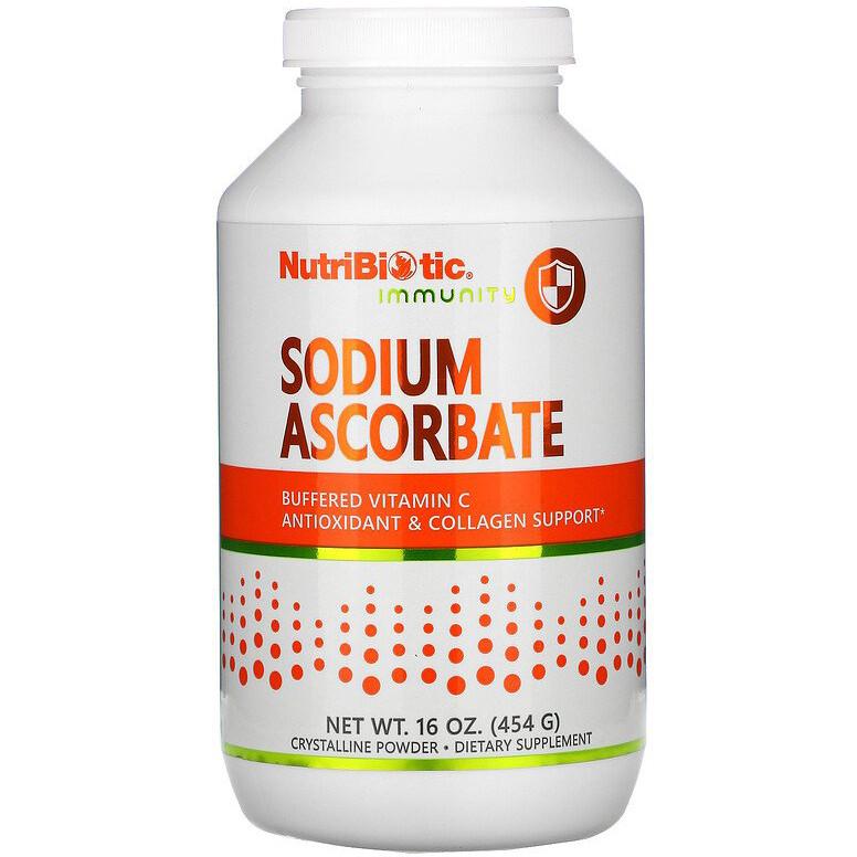 """Буферизований вітамін С, NutriBiotic """"Sodium Ascorbate"""" кристалічний порошок (454 г)"""
