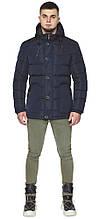 Темно-синя куртка зимова чоловіча з капюшоном модель 44516