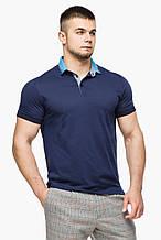 Футболка Поло Braggart мужская - 6285 темно-синий-голубой цвет