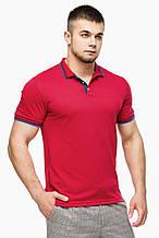 Футболка Поло Braggart мужская - 6584 красный цвет