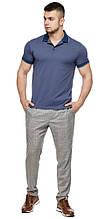 Футболка поло мужская модная цвет джинс модель 6093