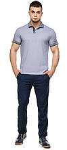 Серая трендовая футболка поло мужская модель 6093 (ОСТАЛСЯ ТОЛЬКО 48(M))