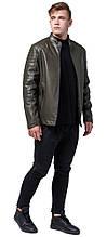 Молодежная куртка осенне-весенняя мужская цвета хаки модель 4327