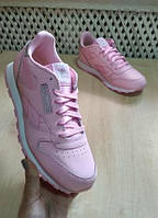 Кросcoвки reebok classic leather pastel bs8972 charming pink/white оригинал