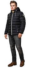 Тепла чоловіча зимова куртка колір чорний-жовтий модель 35228
