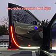 Подсветка дверей авто LED RGB ДИНАМИЧЕСКАЯ (2 х 1.2 м, белая + красная подсветка), фото 4