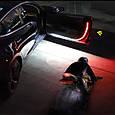 Подсветка дверей авто LED RGB ДИНАМИЧЕСКАЯ (2 х 1.2 м, белая + красная подсветка), фото 5