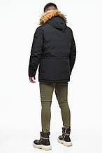 Парку Braggart чоловіча зимова - 25770 чорний колір