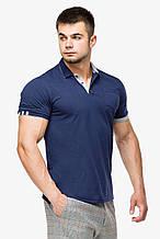 Футболка Поло Braggart мужская - 6990 темно-синий цвет