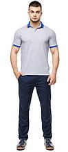 Высококачественная футболка поло мужская серого цвета модель 6618