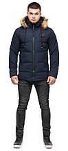 Синя коротка куртка зимова молодіжна для чоловіків модель 25550 (ЗАЛИШИВСЯ ТІЛЬКИ 48(M))