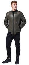 Куртка кольору хакі осінньо-весняна чоловіча молодіжна модель 4055