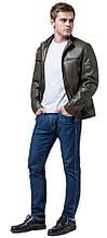Продувається куртка осінньо-весняна молодіжна чоловіча кольору хакі модель 3645